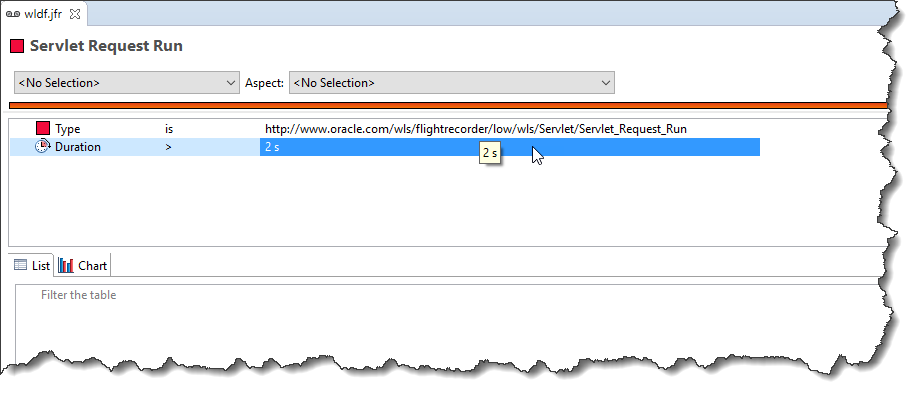 eclipse jmc custom page filter duration threshold